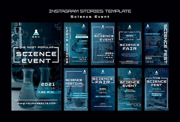 Wetenschap evenement instagram verhalen sjabloon