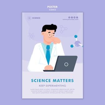Wetenschap is belangrijk poster sjabloon
