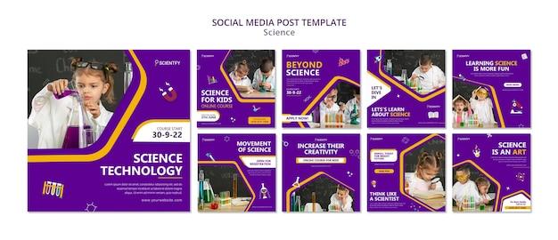 Wetenschap social media berichten