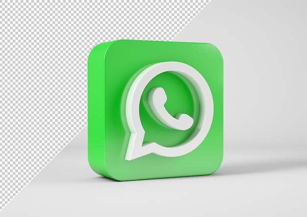 Whats app-logo in 3d-weergave