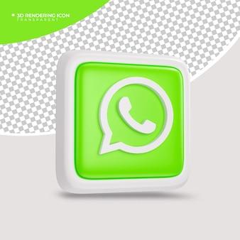 Whatsapp 3d render pictogram teken of symbool