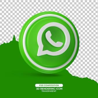Whatsapp 3d render pictogram teken
