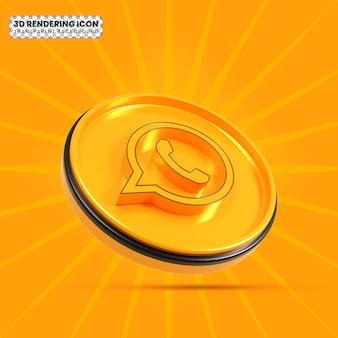Whatsapp 3d renderizado icono png