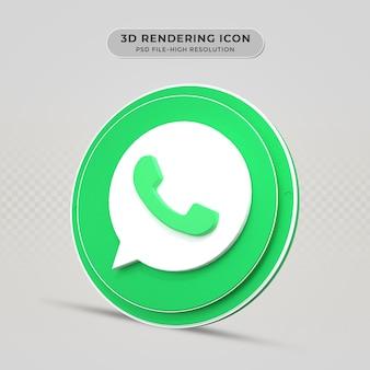Whatsapp 3d weergegeven pictogram