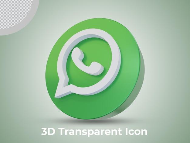 Whatsapp de alta calidad 3d prestados icono aislado