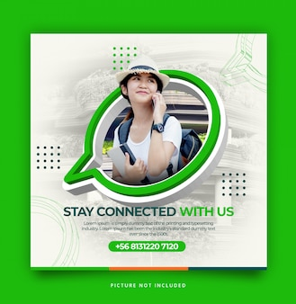 Whatsapp contacteer ons modern dynamisch instagram-sjabloon
