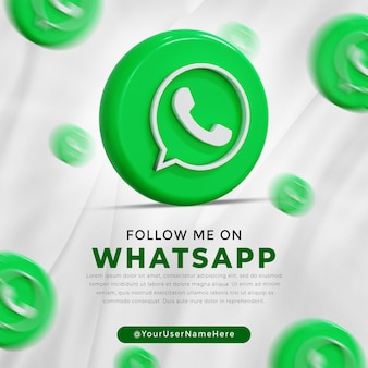 Whatsapp glanzend logo en social media iconen verhaal