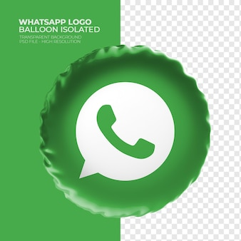 Whatsapp logo 3d-ballon