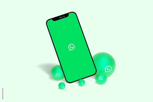 Whatsapp en maqueta de teléfono móvil
