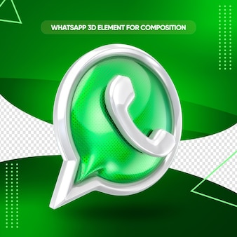 Whatsapp-pictogram 3d render