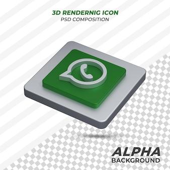 Whatsapp-pictogram in 3d-rendering