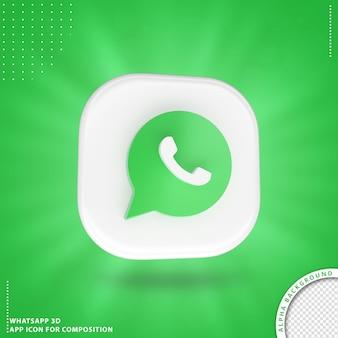 Whatsapp-toepassingspictogram voor samenstelling wit