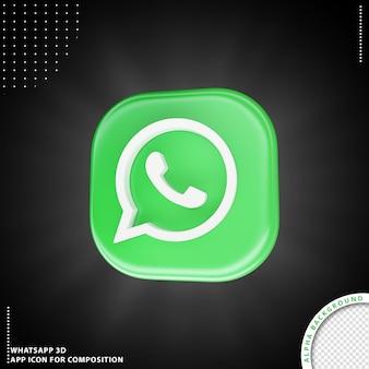 Whatsapp-toepassingspictogram voor samenstelling