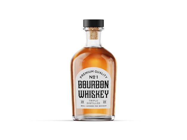 Whisky fles mockup sjabloon