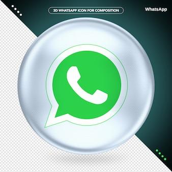 White ellipse 3d whatsapp