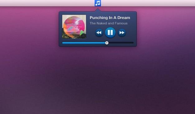 Widget widget de música psd