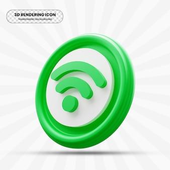 Wifi-pictogram in 3d-rendering