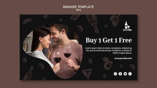 Wijn banner sjabloon thema