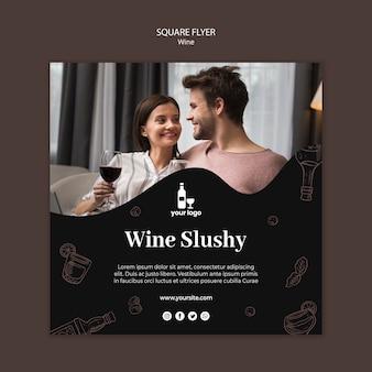 Wijn flyer sjabloon thema