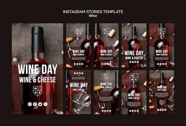 Wijn instagram verhalen sjabloon