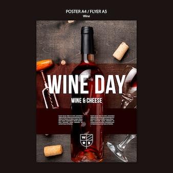Wijn poster sjabloon thema