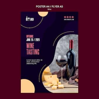Wijn poster sjabloon