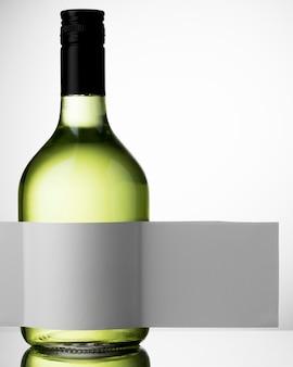 Wijnflesetiket mock-up