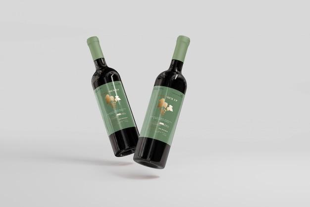 Wijnflessen mockup
