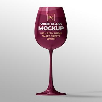 Wijnglasmodel voor branding en reclamepresentaties