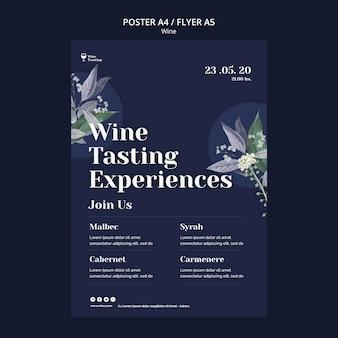 Wijnproeverij flyer-stijl