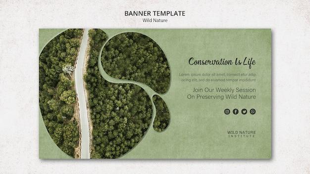 Wild natuurconcept voor banner