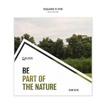 Wilde natuur sjabloon folder