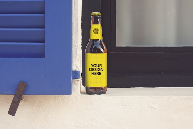 Window beer mockup