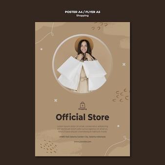 Winkel verkoop poster sjabloon