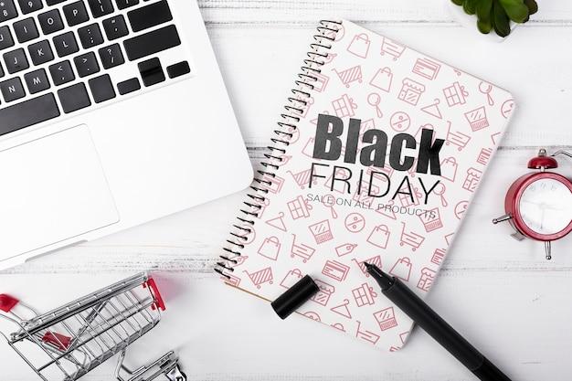 Winkelen mock-up op zwarte vrijdag