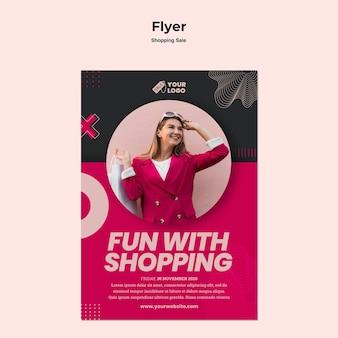 Winkelen verkoop flyer met foto