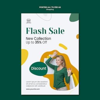 Winkelen verkoop sjabloon folder