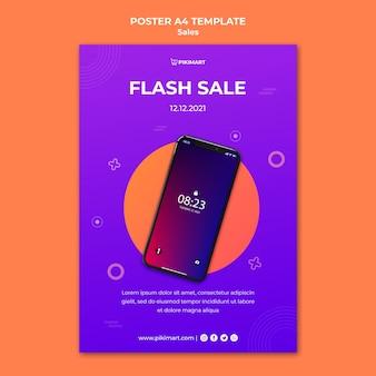 Winkelen verkoop sjabloon poster