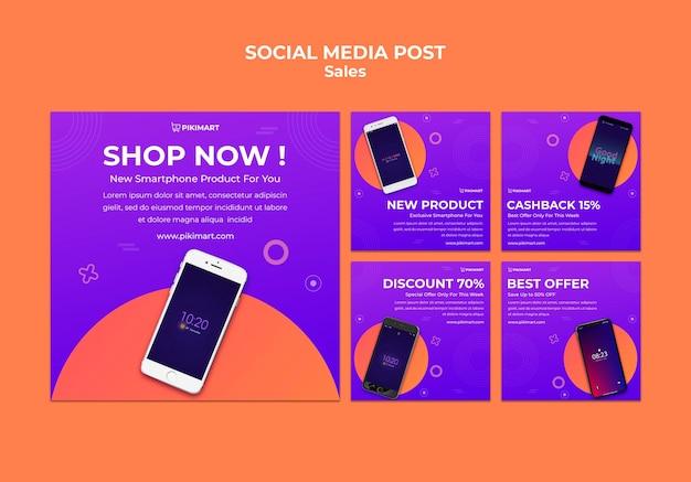 Winkelen verkoop sociale media post-sjabloon