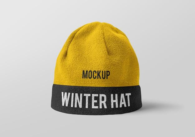 Winter hoed mockup ontwerp