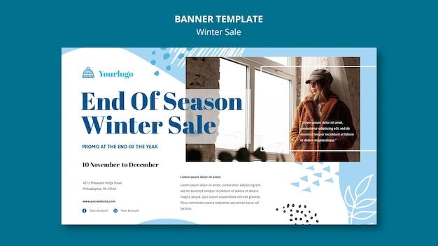 Winter verkoop collectie sjabloon voor spandoek