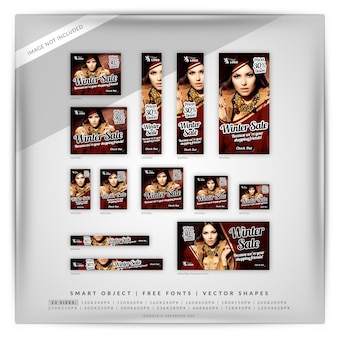Winterverkoop banner set