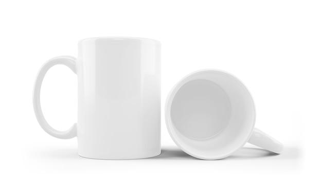 Wit ceramisch geïsoleerd mokmodel