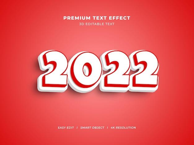 Wit en rood nieuwjaar bewerkbaar teksteffect