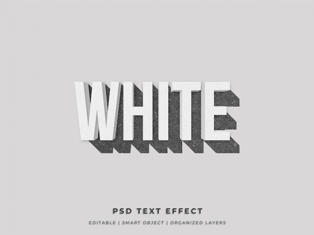 Wit en schoon 3d teksteffect