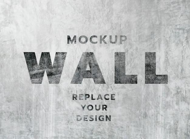 Wit grunge betonnen muur textuur mockup