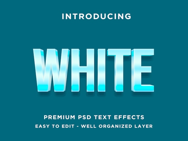 Wit koud - tekststijleffect mockup
