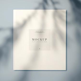 Wit leerboek cover ontwerp mockup