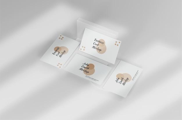 Wit minimalistisch visitekaartjemodel