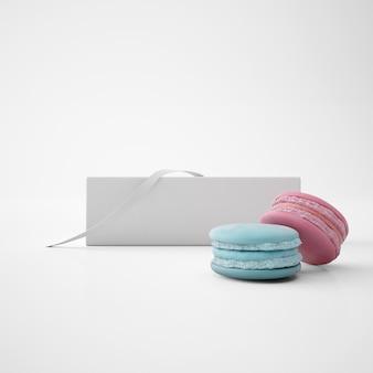 Wit pakket met macarons